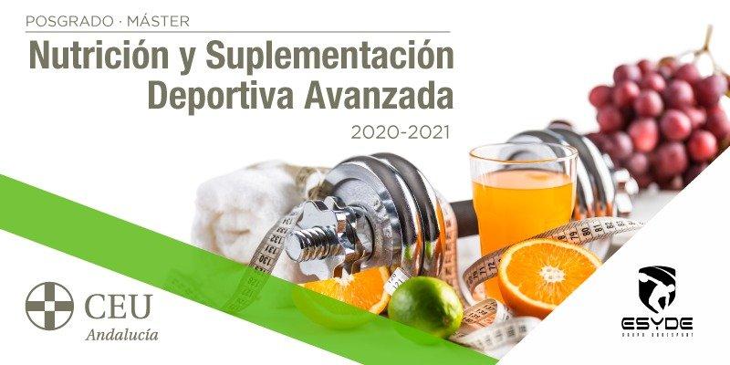 Máster Nutrición y Suplementación Deportiva Avanzada