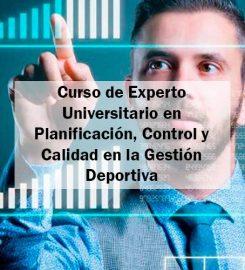 Curso de Experto en Planificación, Control y Calidad en la Gestión Deportiva