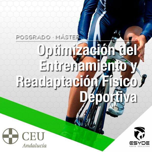 CEU Máster Optimización del Entrenamiento y Readaptación Físico Deportiva Estudia Deporte